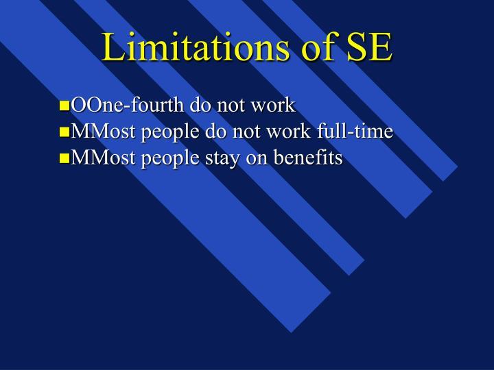 Limitations of SE