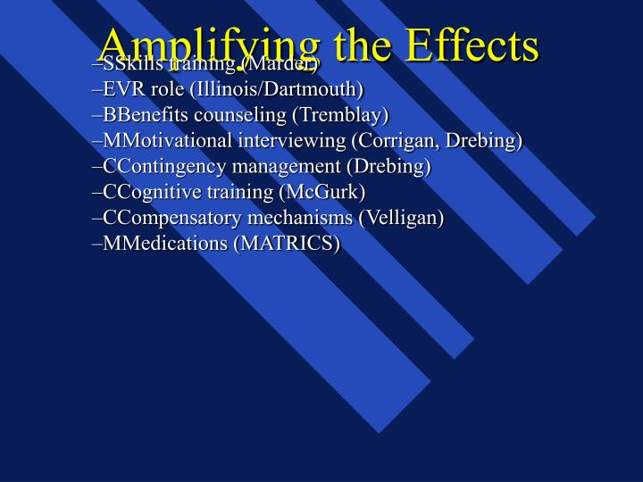 Amplifying the Effects