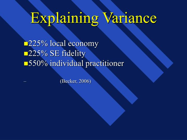 Explaining Variance