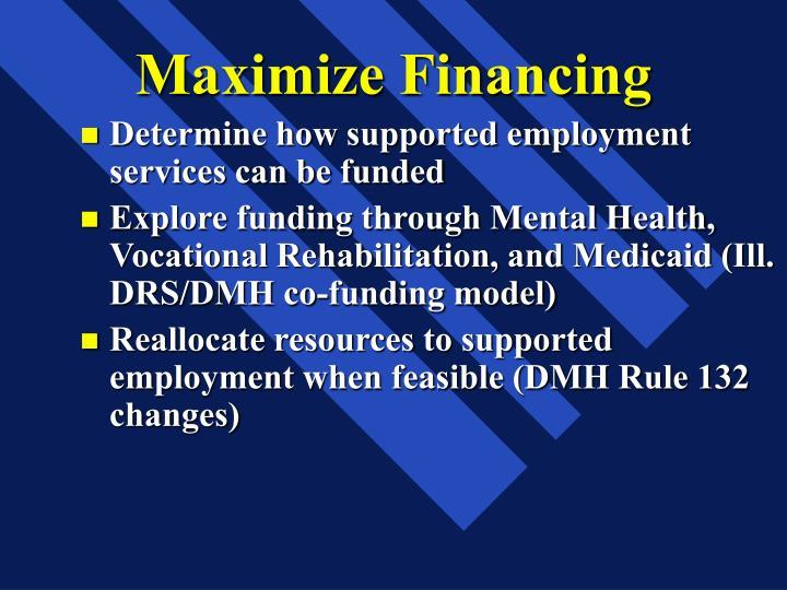 Maximize Financing