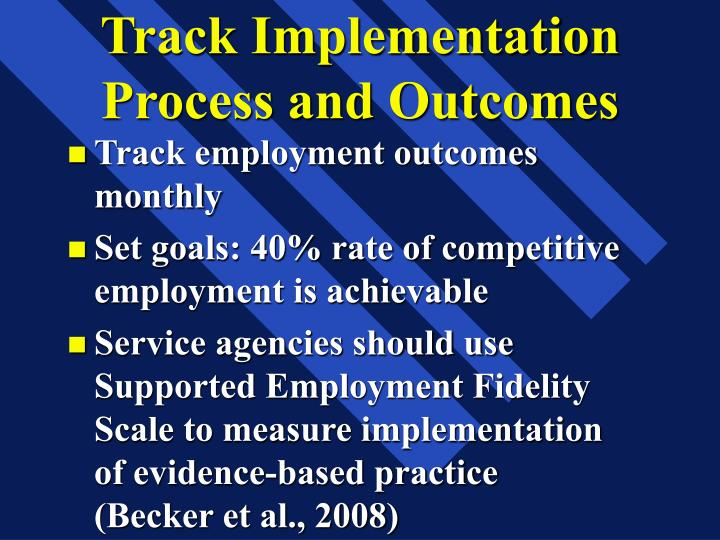 Track Implementation Process and Outcomes