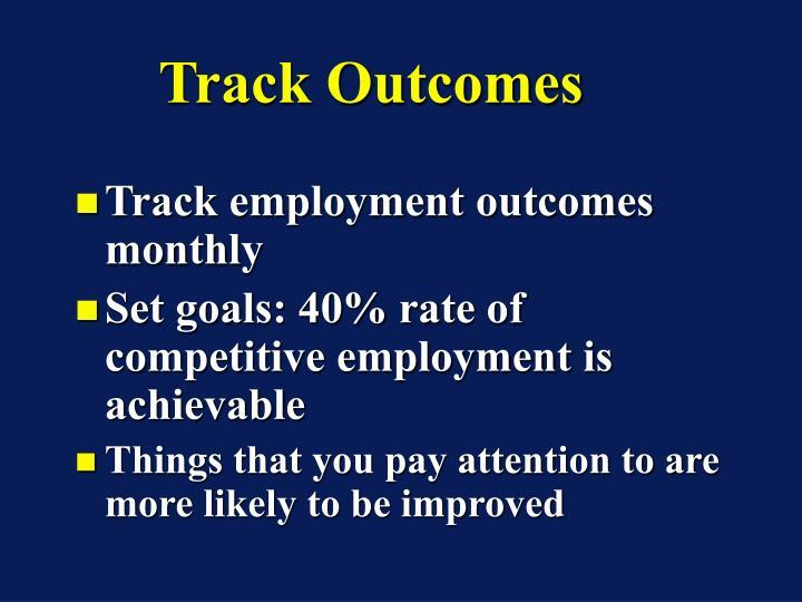 Track Outcomes