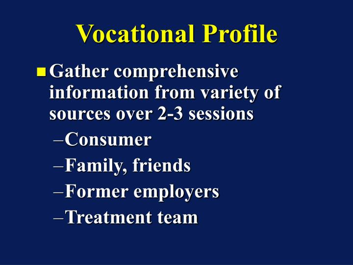 Vocational Profile
