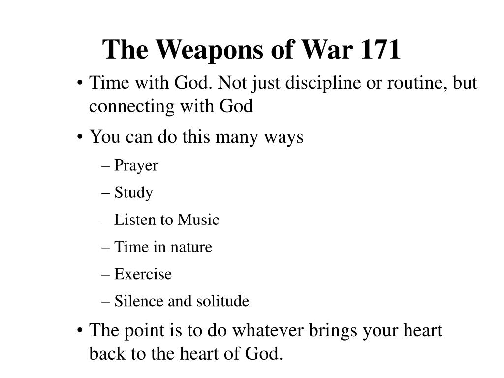 The Weapons of War 171