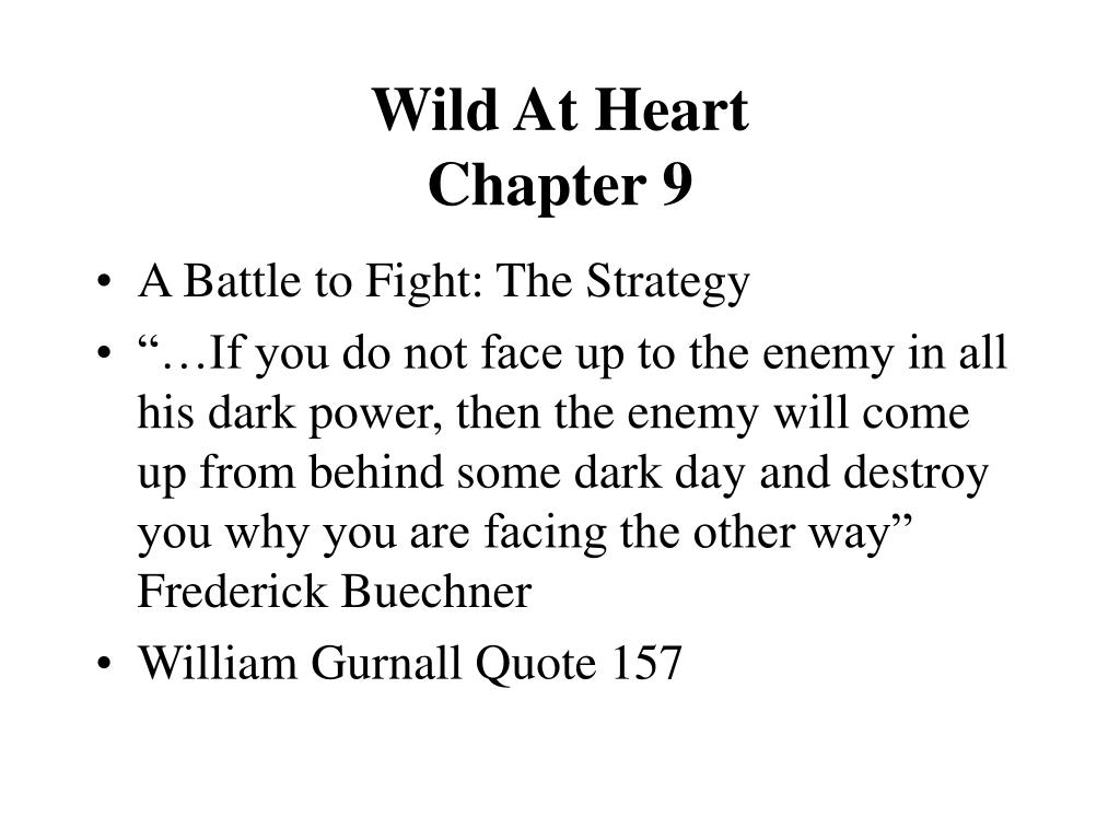 wild at heart chapter 9 l.