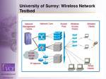 university of surrey wireless network testbed