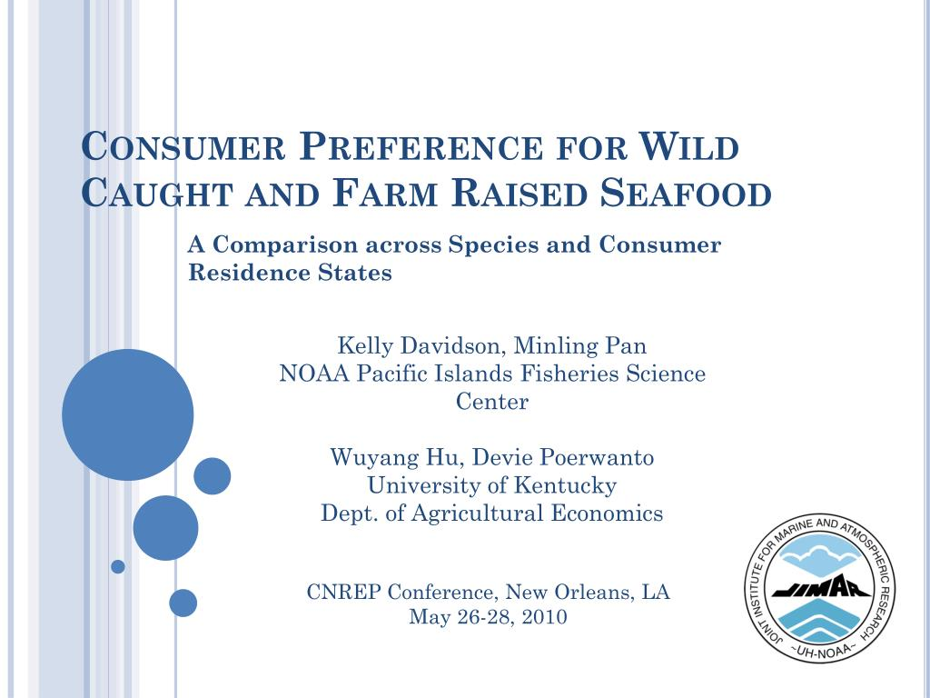 consumer preference for wild caught and farm raised seafood l.