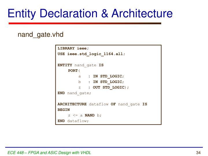 Entity Declaration & Architecture
