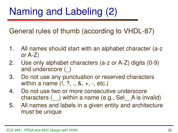 Naming and Labeling (2)