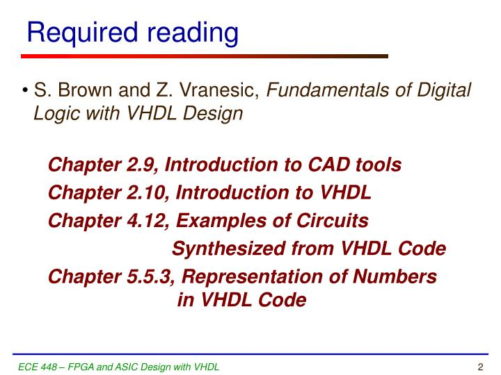 R equired reading