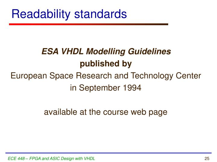 Readability standards