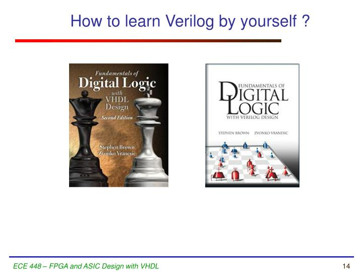 How to learn Verilog by yourself ?