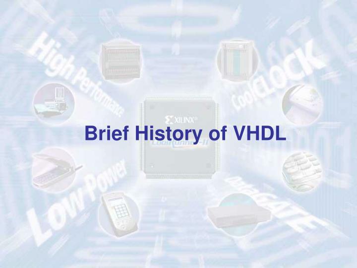 Brief History of VHDL