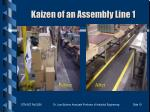 kaizen of an assembly line 1