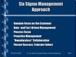 six sigma management approach