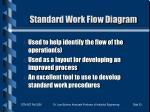 standard work flow diagram