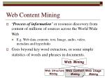 web content mining