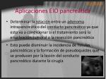 aplicaciones eio pancre tica