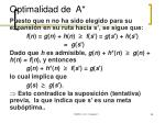 optimalidad de a2