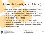 l nea de investigaci n futura i