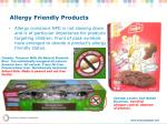 allergy friendly products
