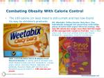 combating obesity with calorie control