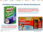 including ingredients for mental development