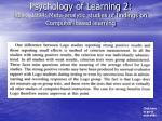 psychology of learning 2 kulik 1994 meta analytic studies of findings on computer based learning2