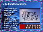 5 la libertad religiosa