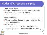 modes d adressage simples1