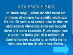 violenza fisica
