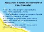 assessment di soldati americani feriti in iraq e afganistan1