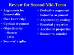 review for second mid term3