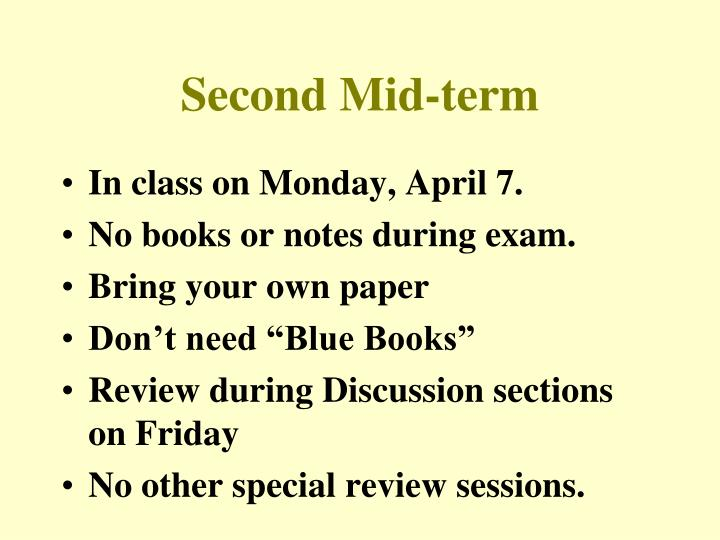 second mid term n.