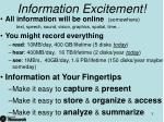 information excitement