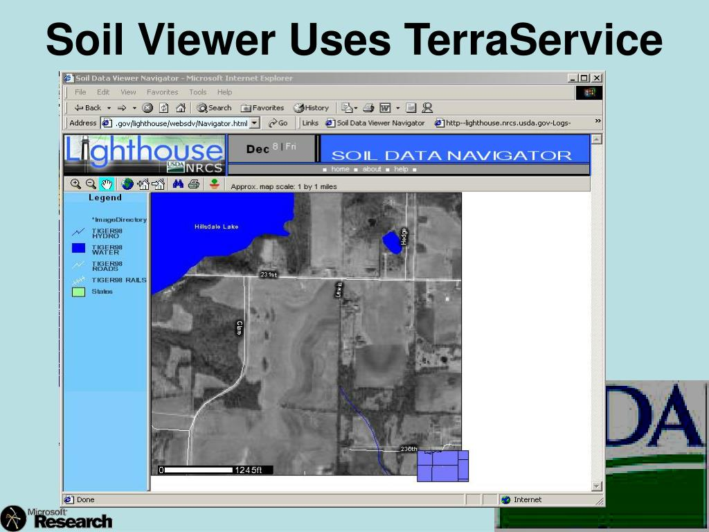 Soil Viewer Uses TerraService