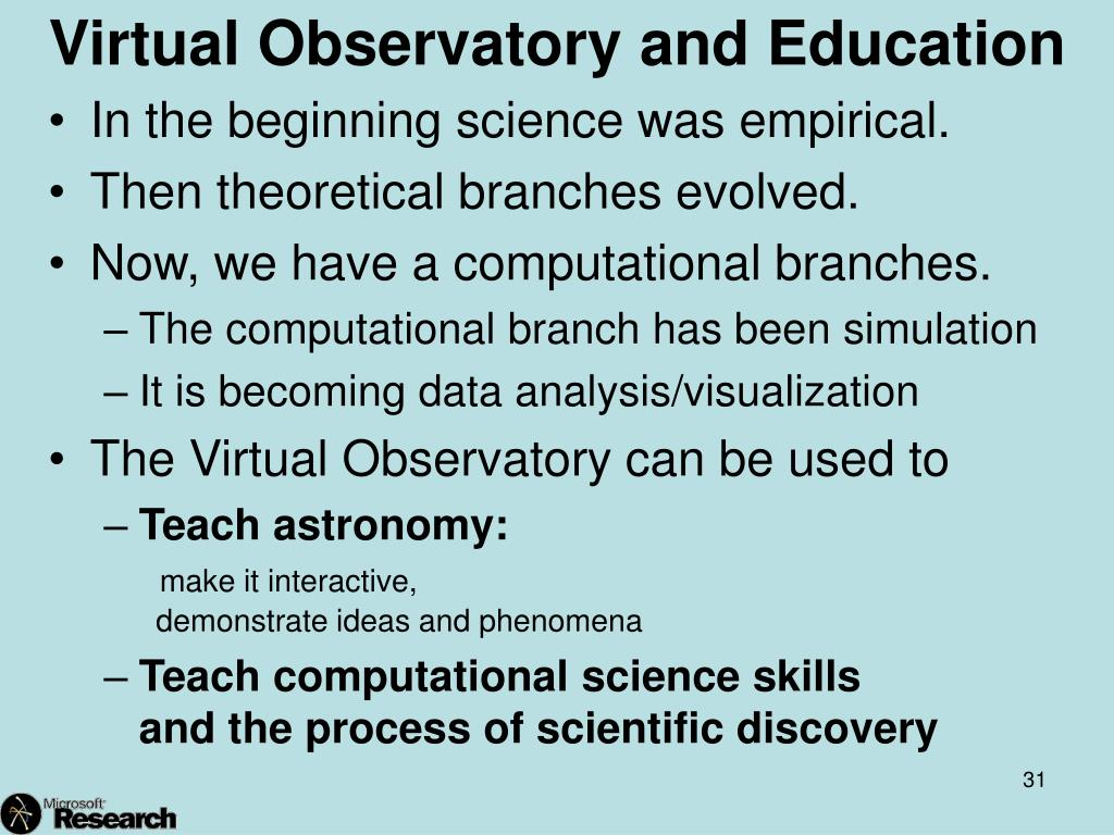 Virtual Observatory and Education
