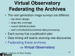 virtual observatory federating the archives