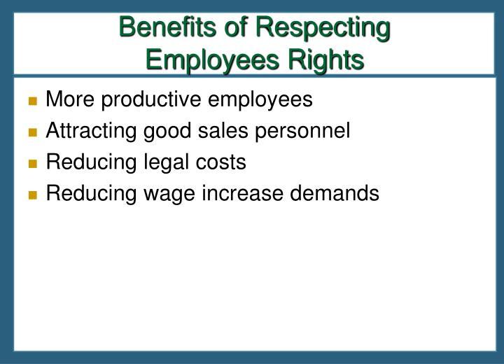 Benefits of Respecting