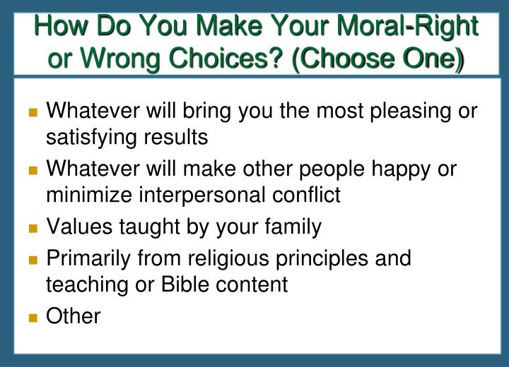 How Do You Make Your Moral-Right