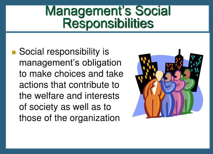 Management's Social