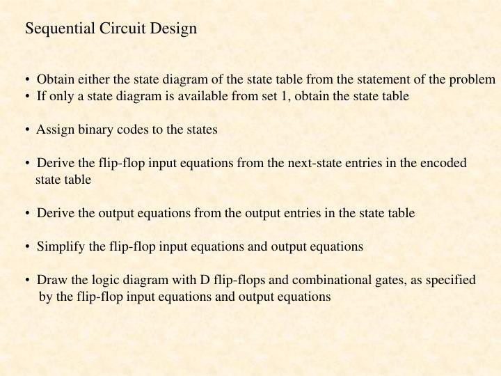 Sequential Circuit Design
