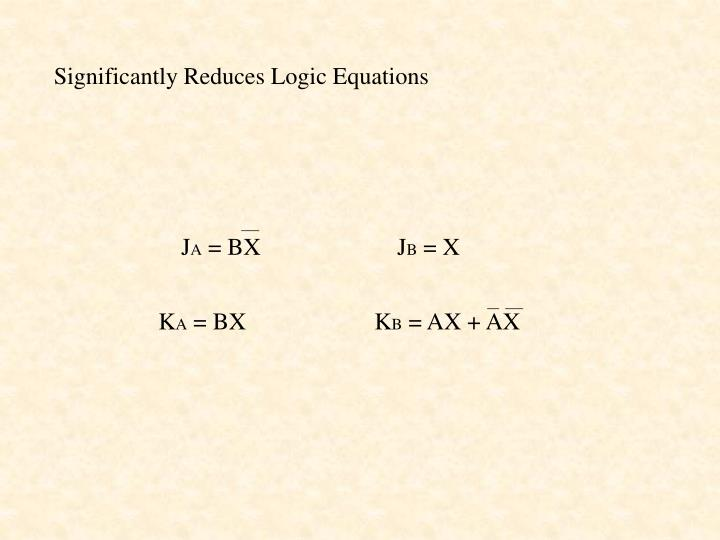 Significantly Reduces Logic Equations