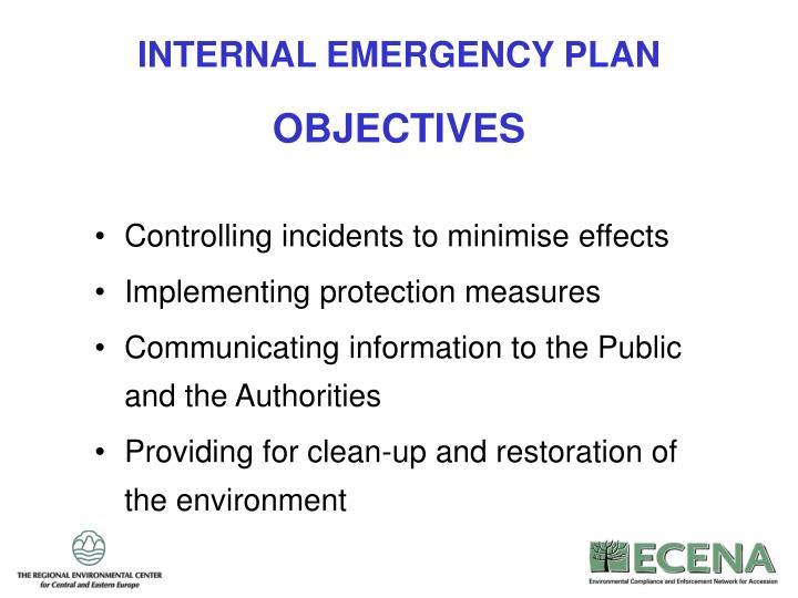 INTERNAL EMERGENCY PLAN