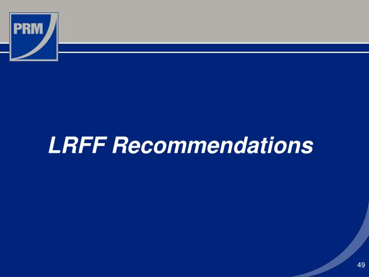 LRFF Recommendations