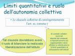limiti quantitativi e ruolo dell autonomia collettiva