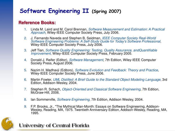 Software engineering ii spring 20071