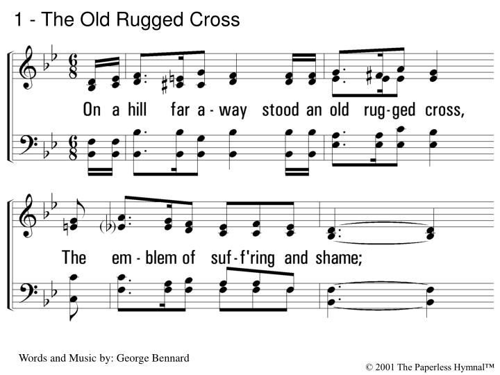1 the old rugged cross n.