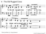 4 the old rugged cross