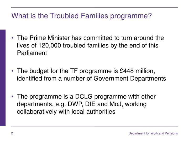 What is the troubled families programme